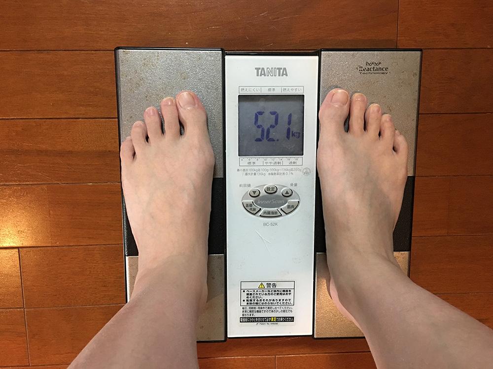 2月18日(土)今朝の体重
