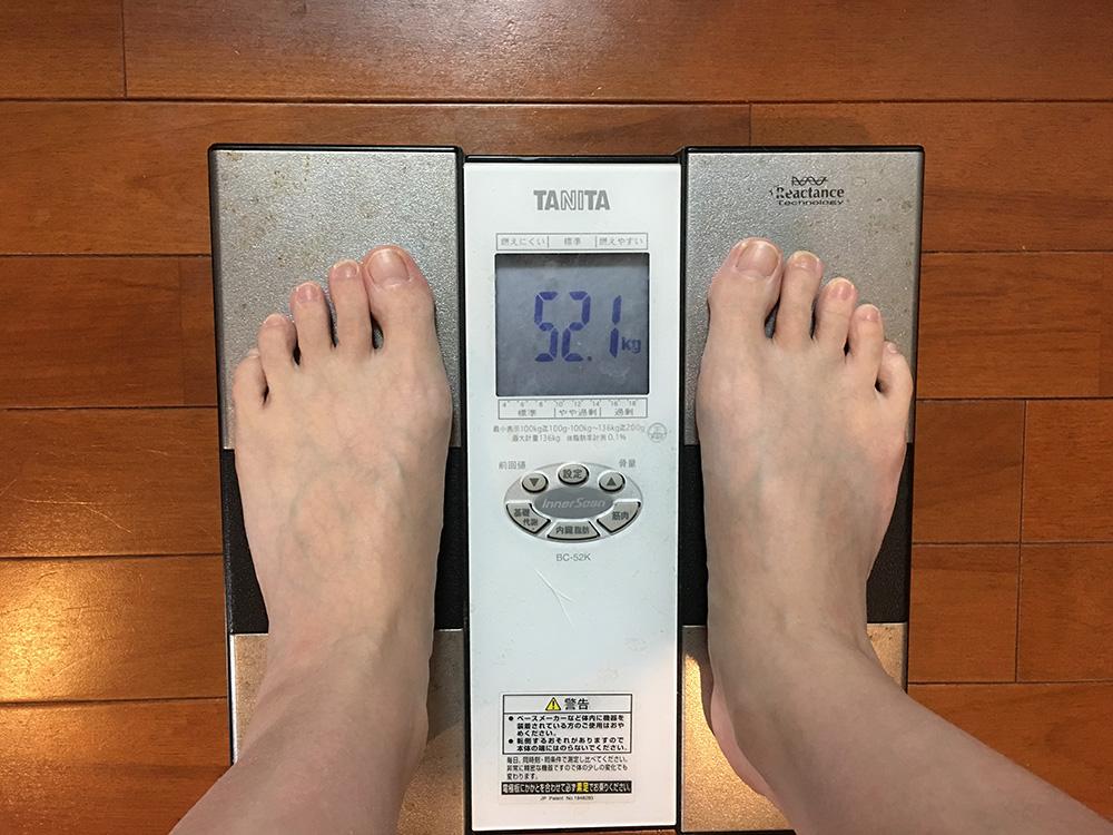 2月20日(月)今朝の体重