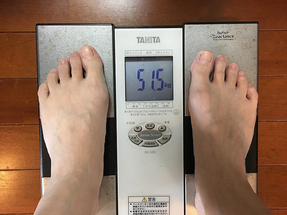 4月3日(月)今朝の体重