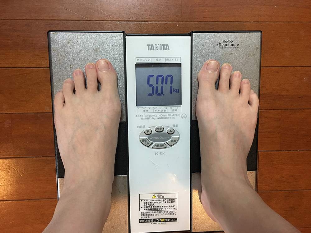 4月6日(木)今朝の体重