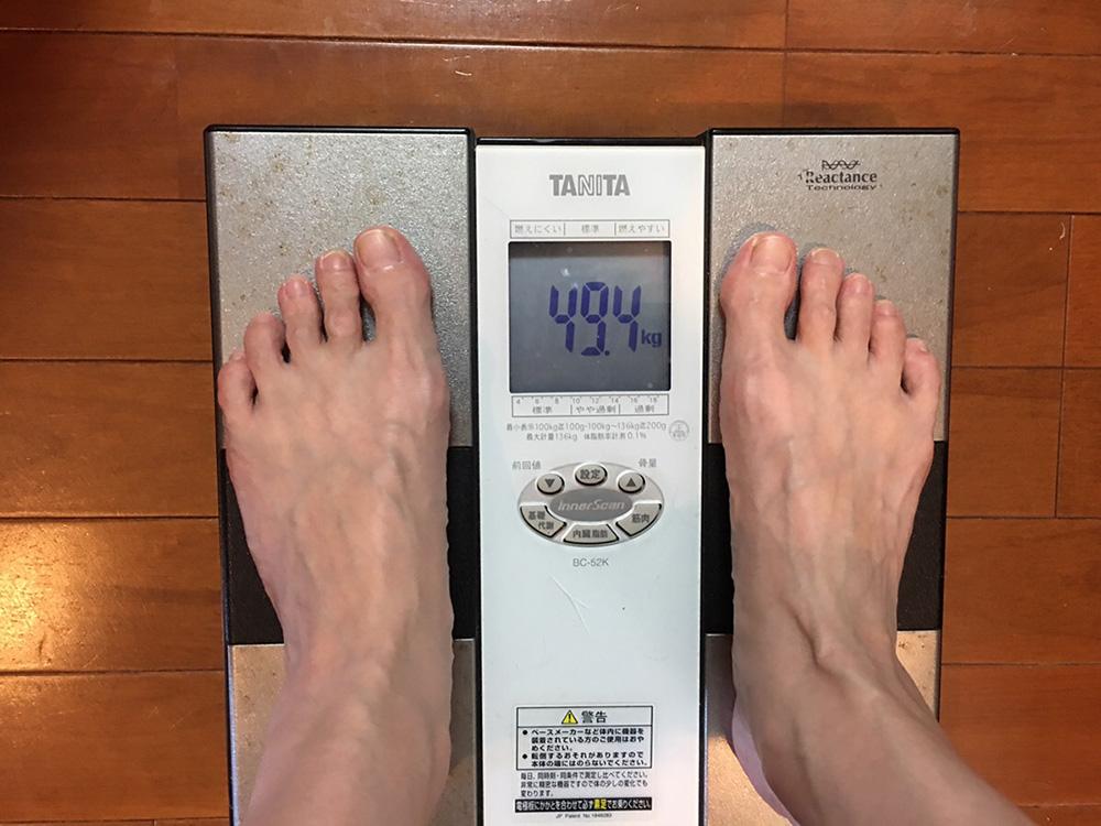 4月16日(日)今朝の体重