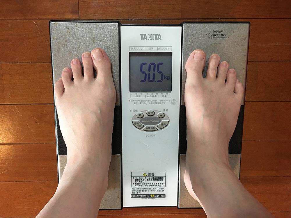 5月15日(月)今朝の体重