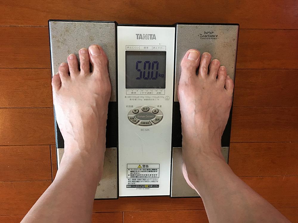 5月22日(月)今朝の体重