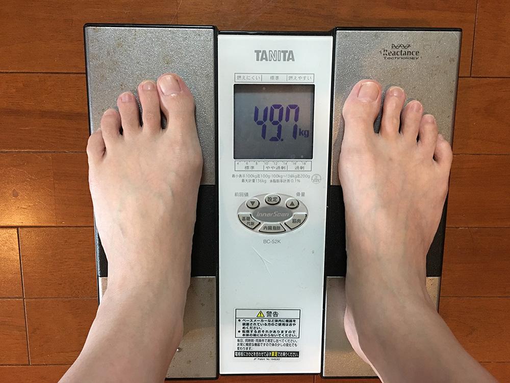 5月31日(水)今朝の体重