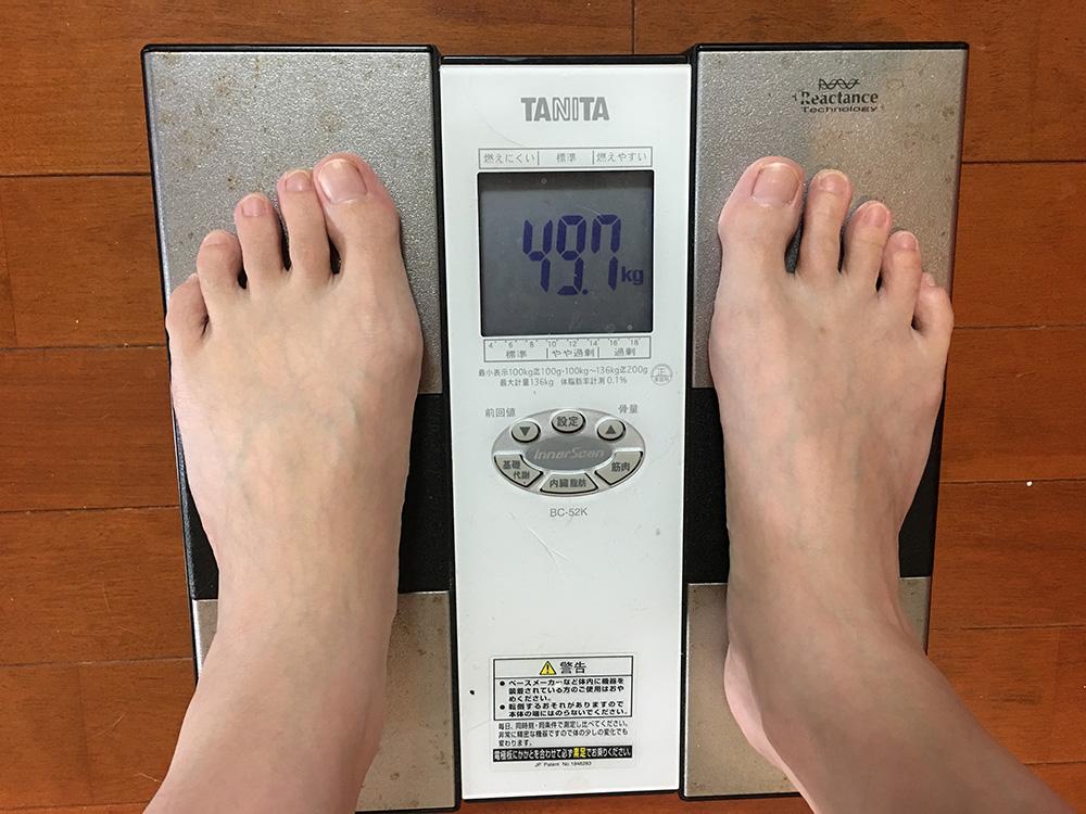 6月2日(金)今朝の体重