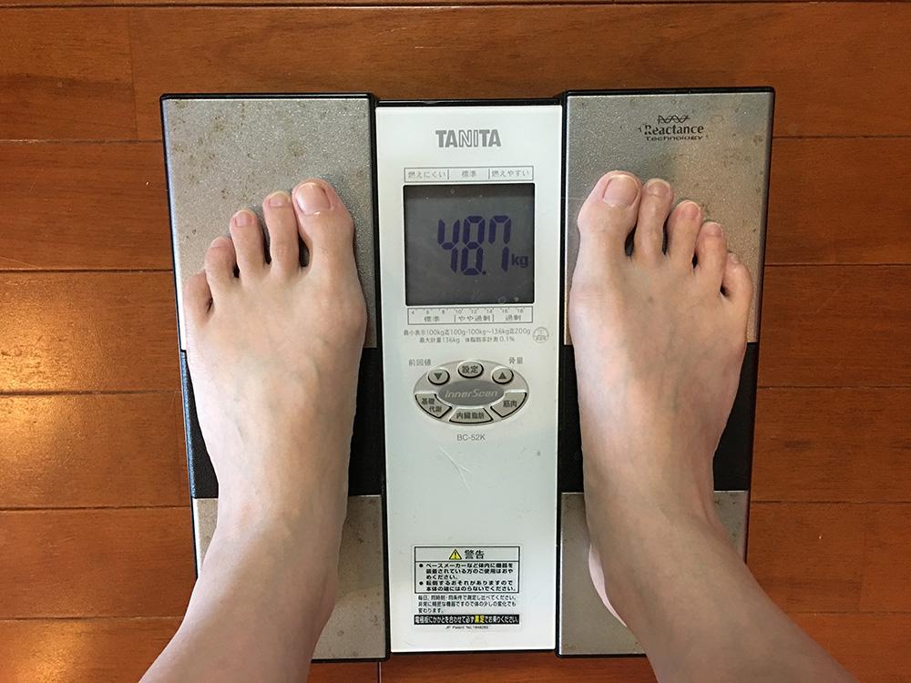 6月5日(月)今朝の体重