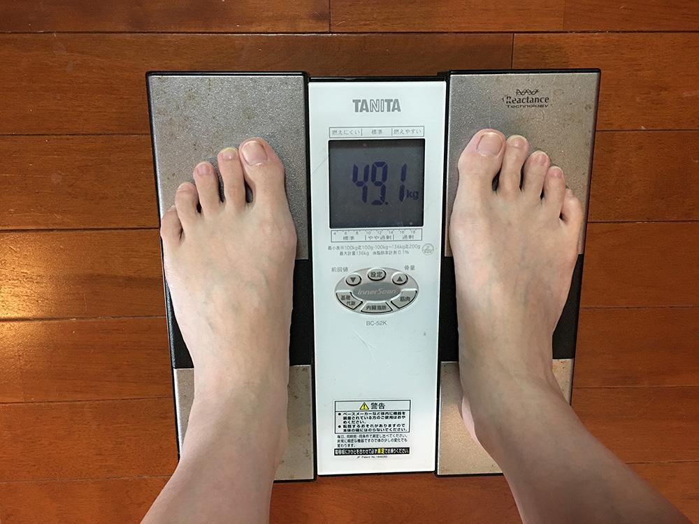 6月8日(木)今朝の体重