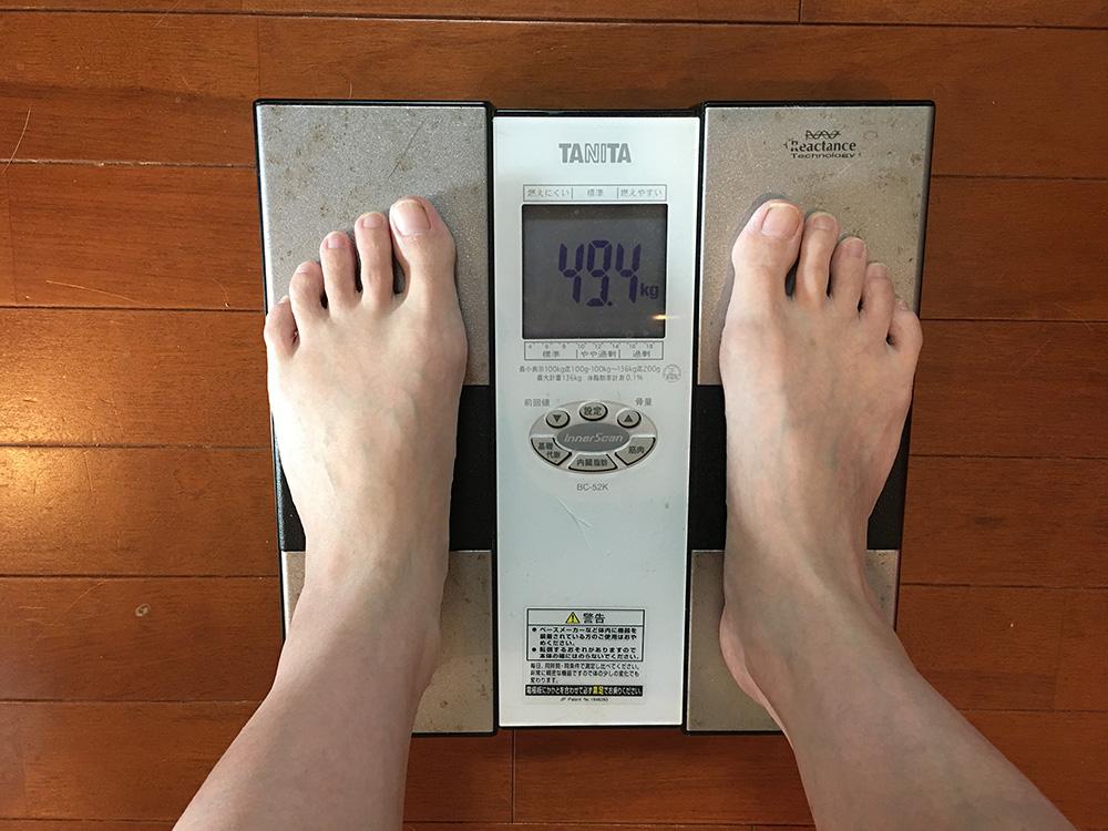 6月10日(土)今朝の体重