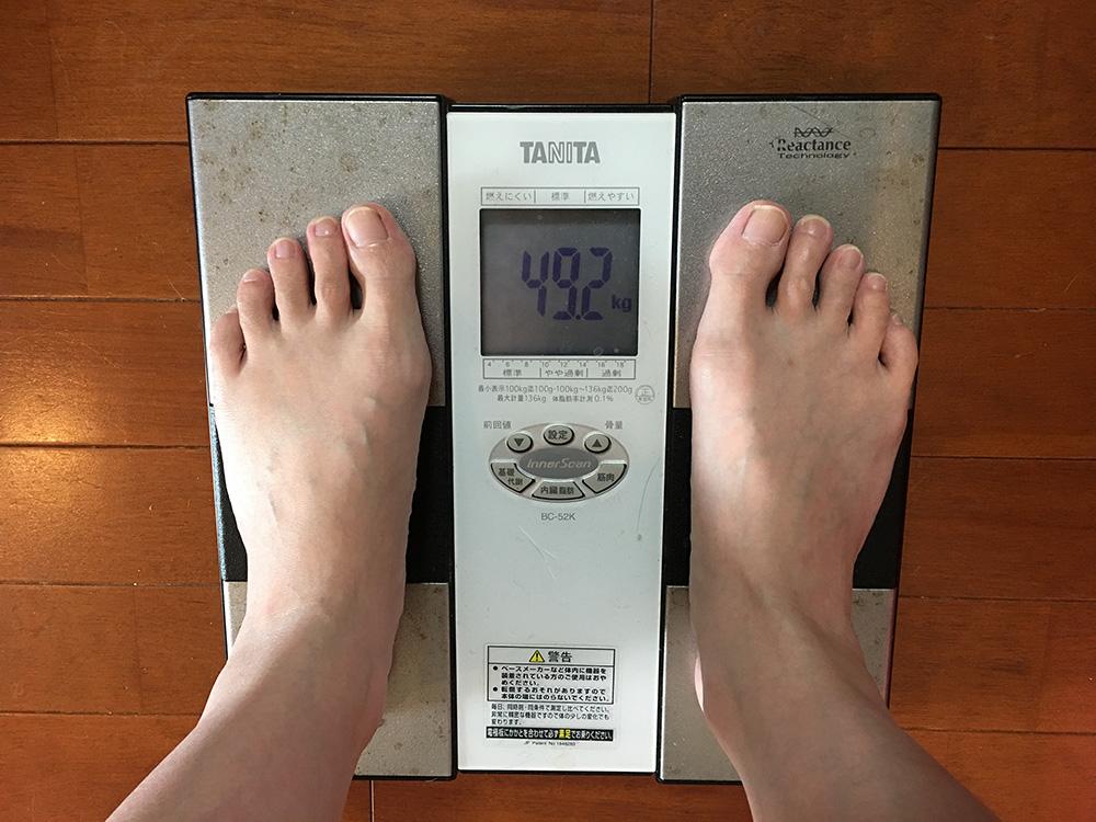 6月12日(月)今朝の体重