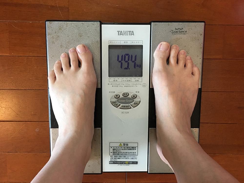 6月14日(水)今朝の体重