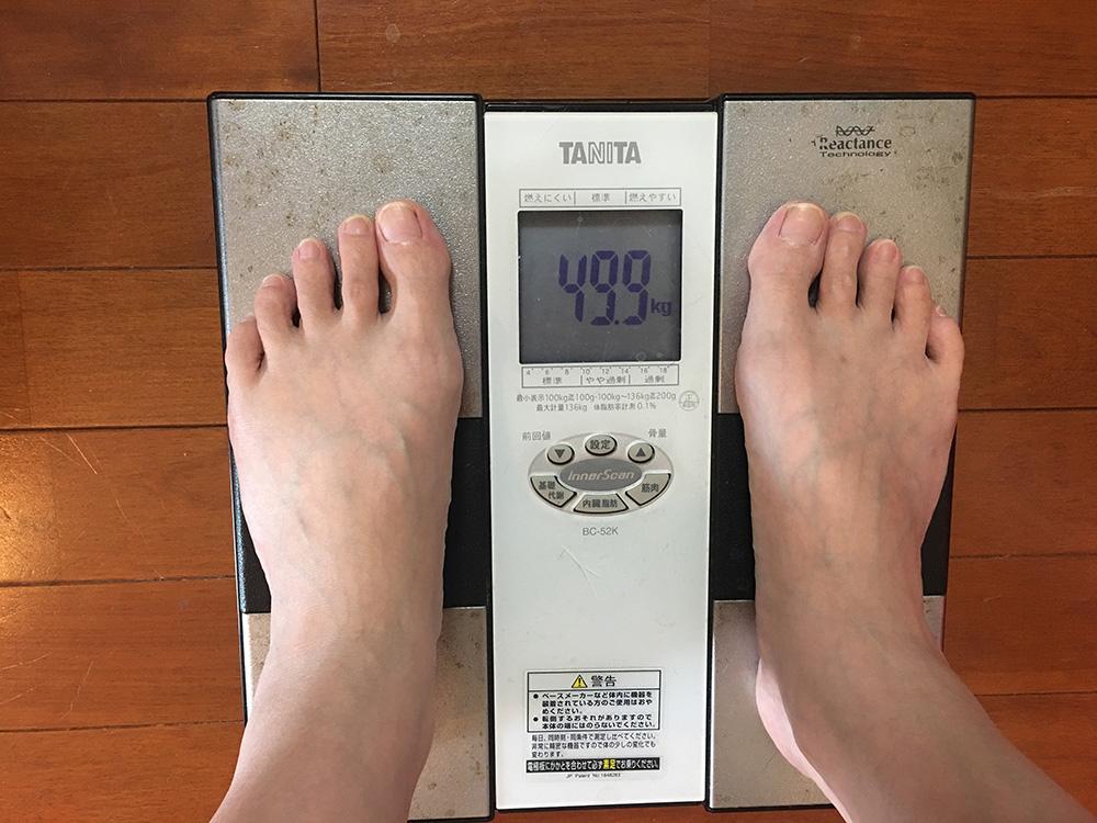6月17日(土)今朝の体重
