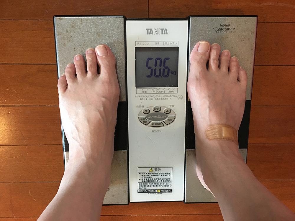 6月19日(月)今朝の体重