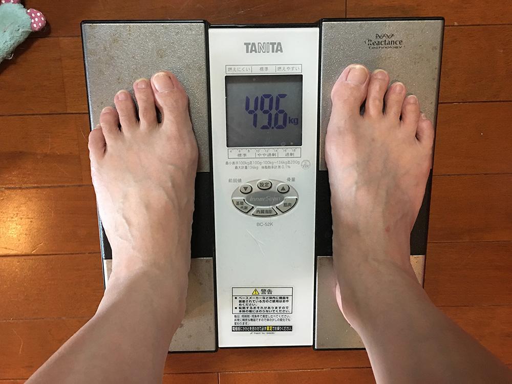 6月20日(火)今朝の体重