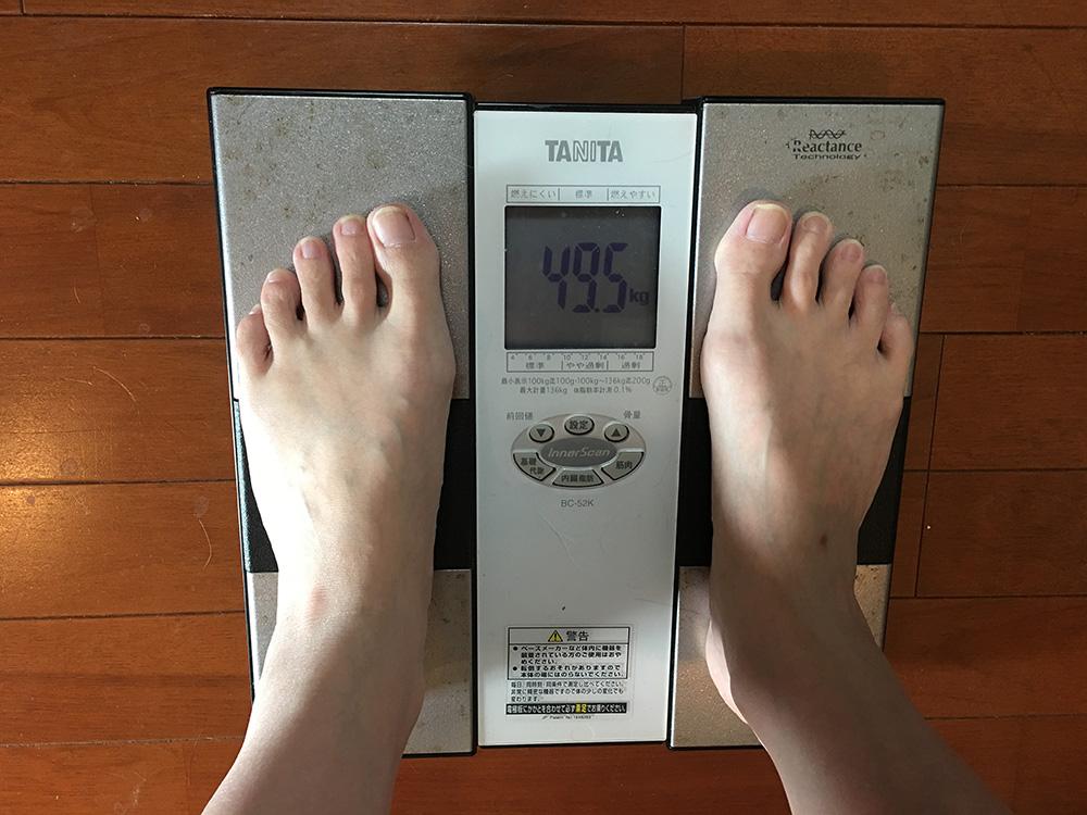 6月23日(金)今朝の体重