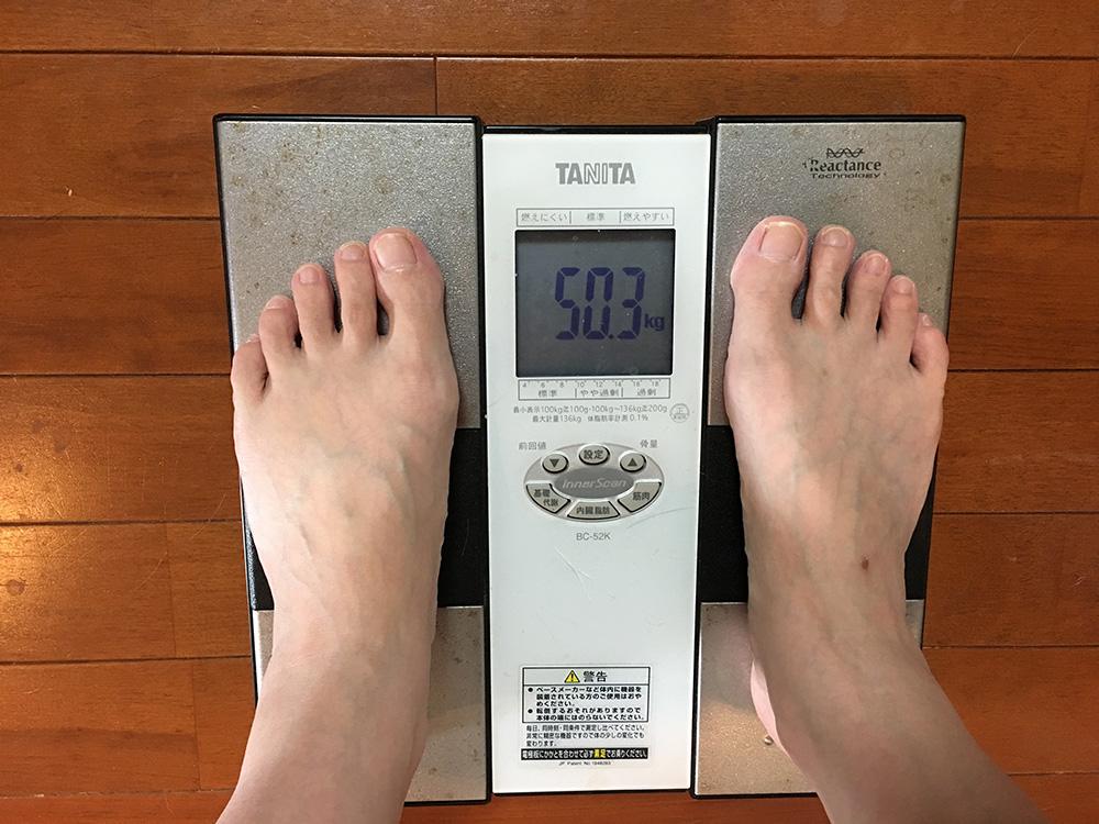 6月26日(月)今朝の体重