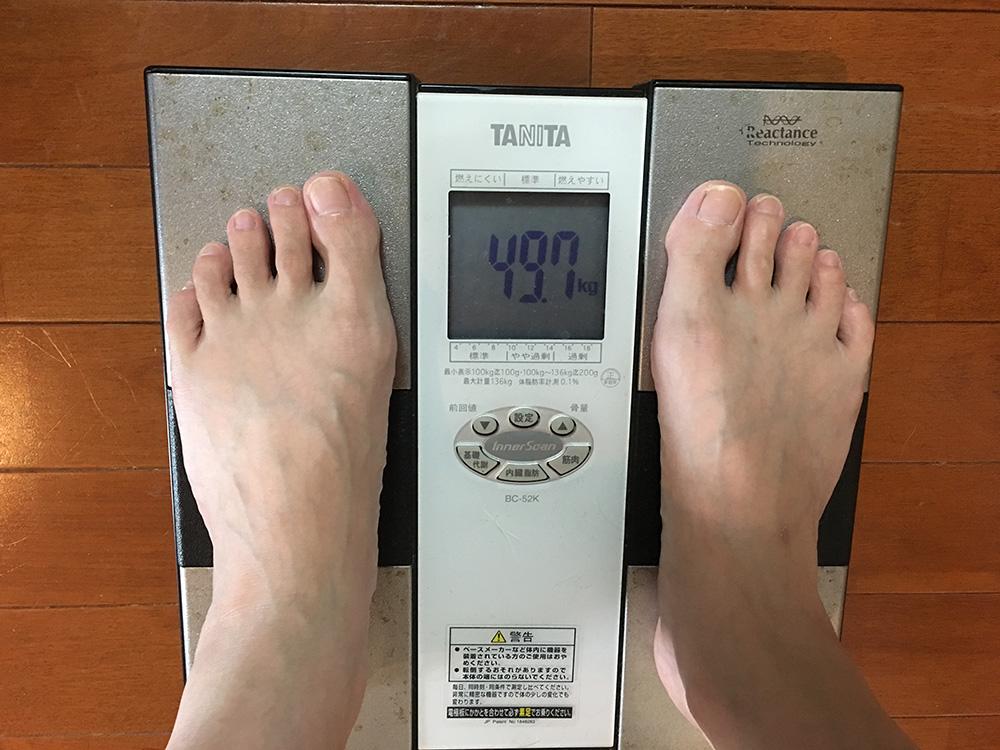 6月29日(木)今朝の体重