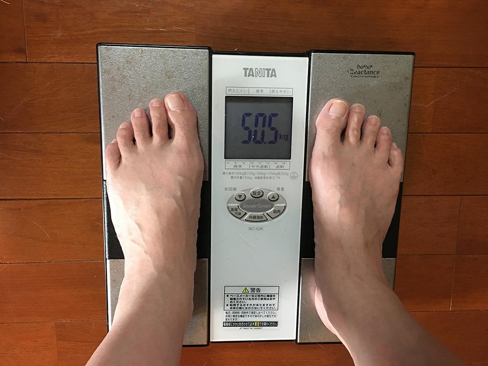 7月1日(土)今朝の体重