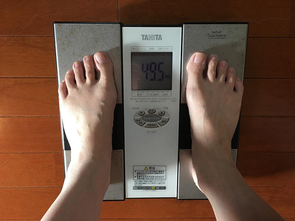7月2日(日)今朝の体重