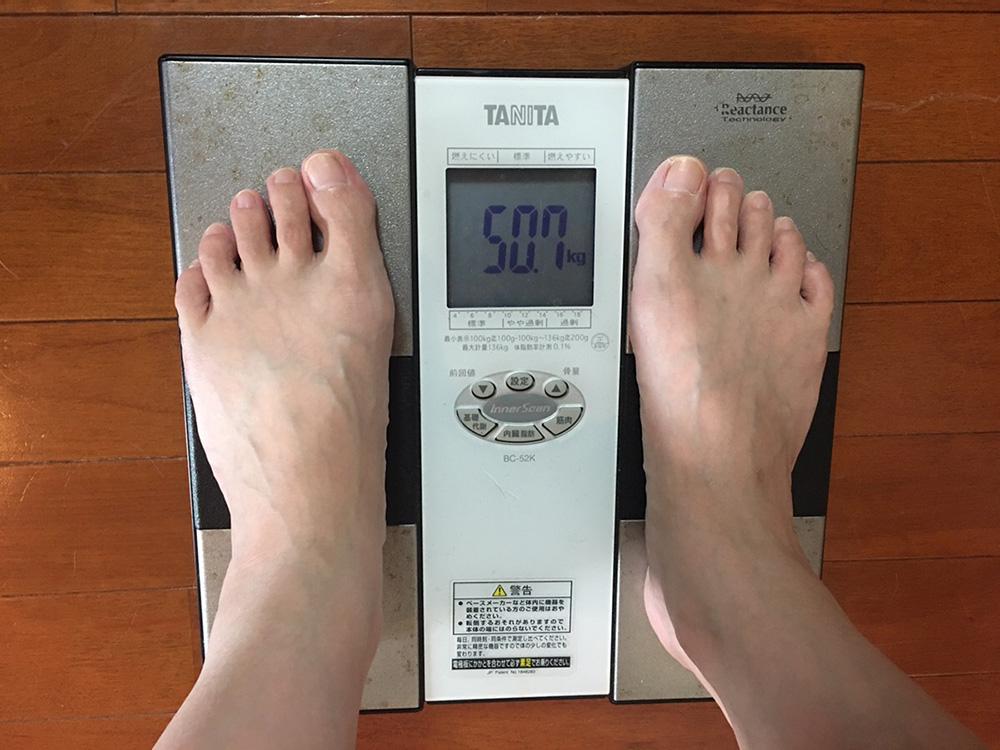 7月4日(火)今朝の体重