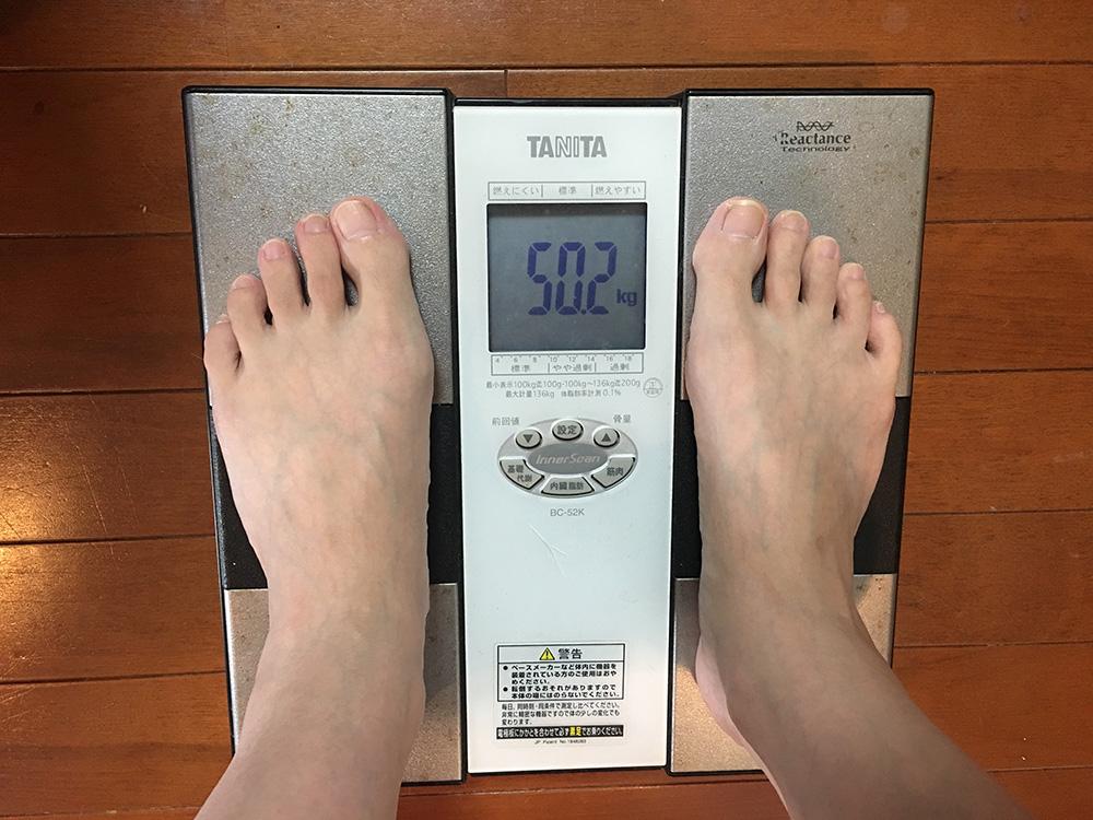 7月5日(水)今朝の体重