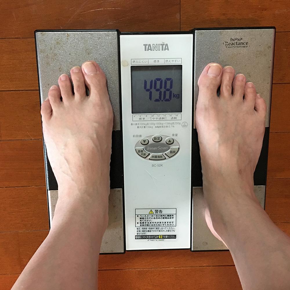 7月10日(月)今朝の体重