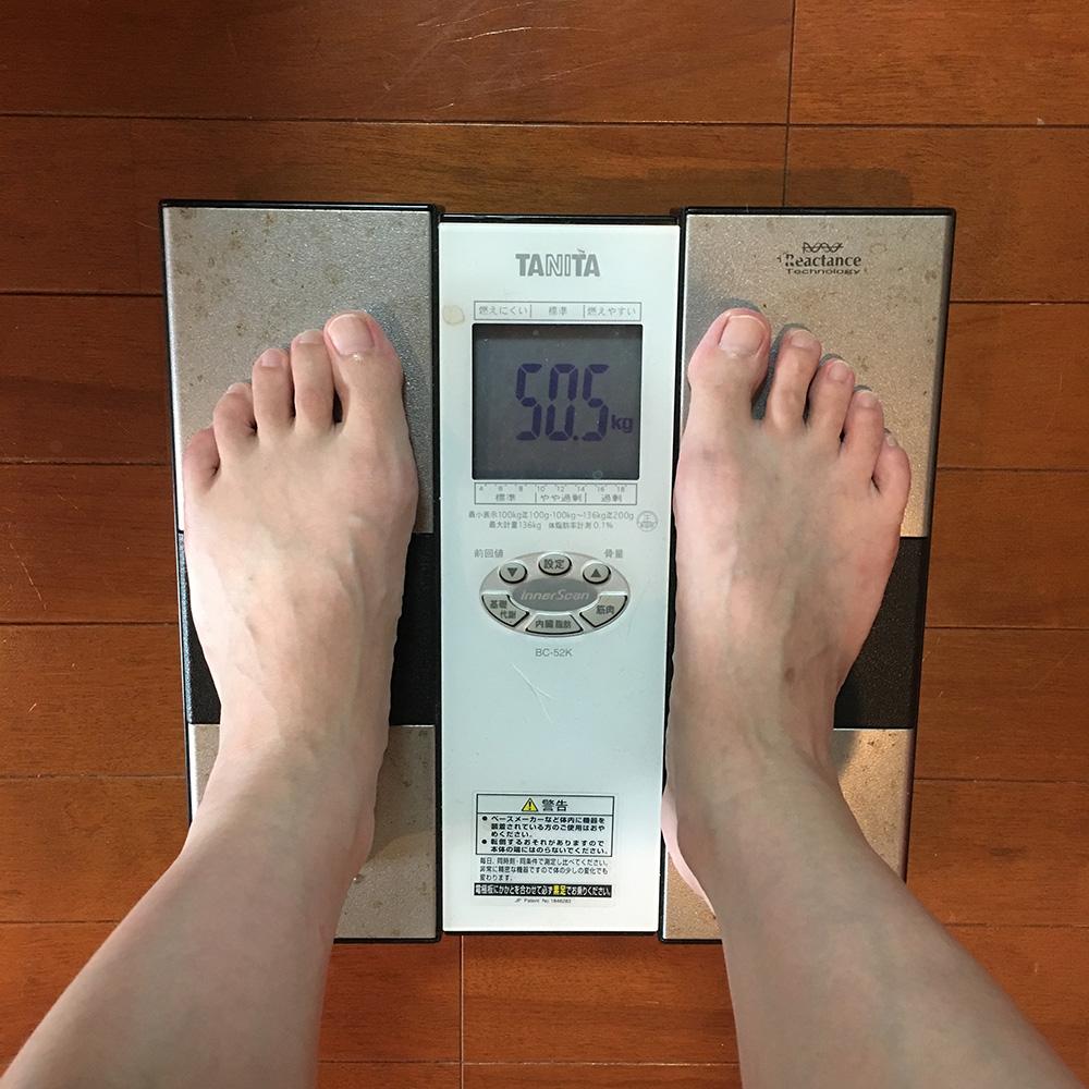 7月18日(火)今朝の体重