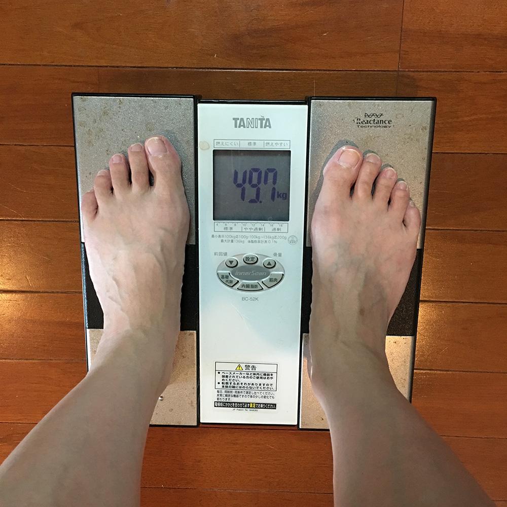 7月21日(金)今朝の体重