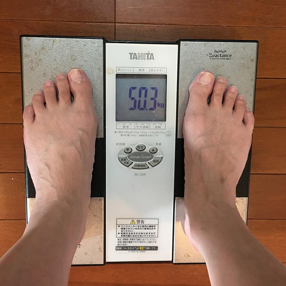 7月22日(土)今朝の体重