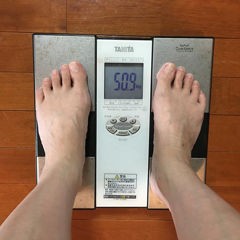 7月24日(月)今朝の体重