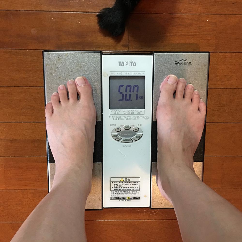 8月1日(火)今朝の体重