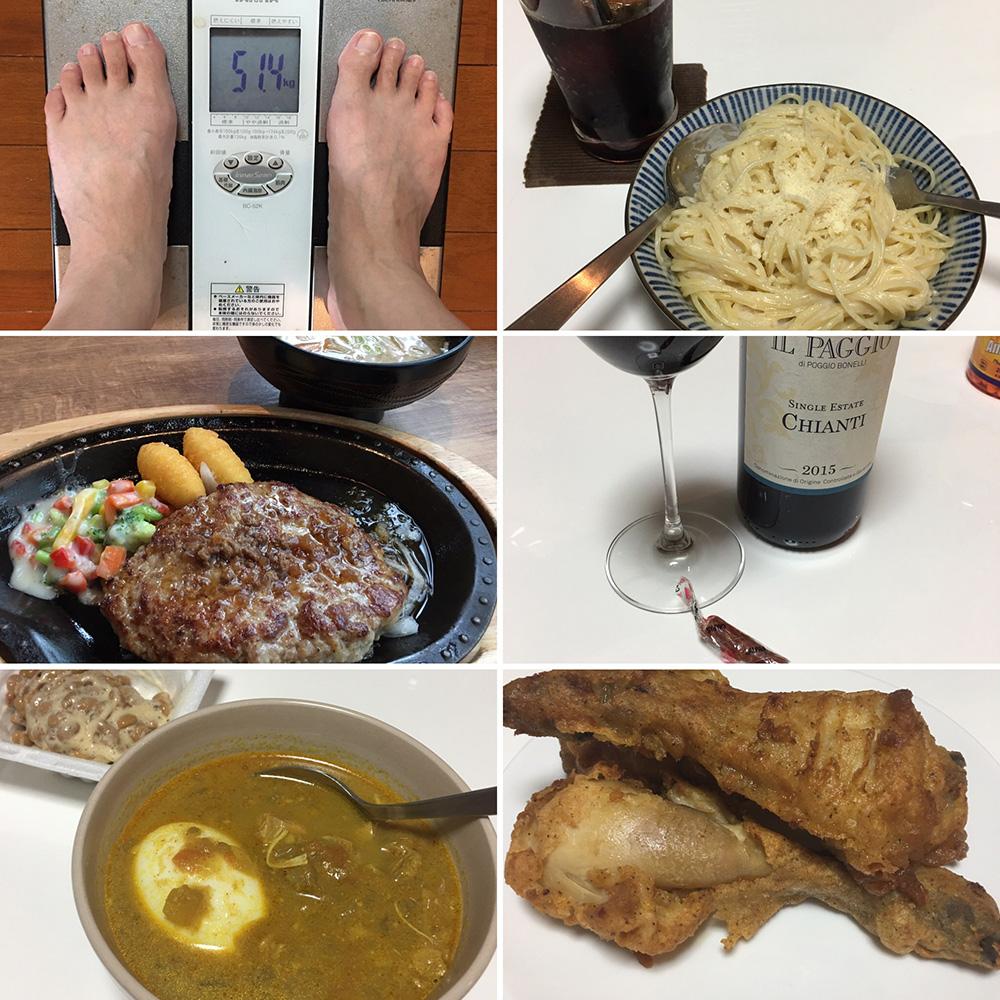 8月16日(水)今朝の体重とご飯