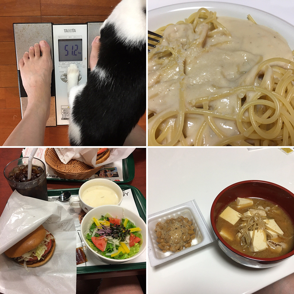 8月28日(月)の体重と昨日のご飯