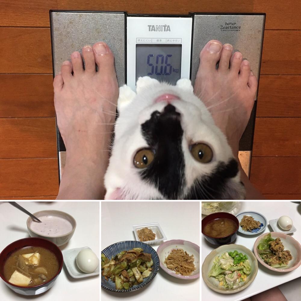 8月31日(木)の体重と昨日のご飯