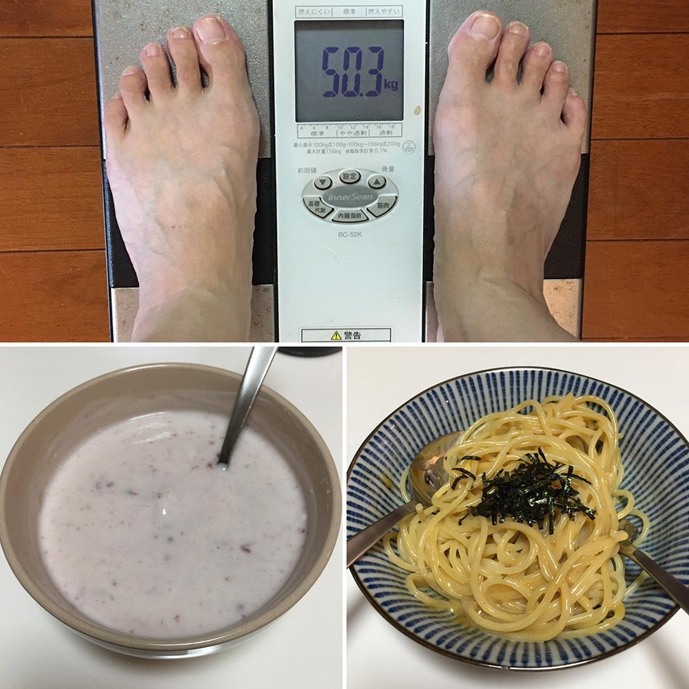9月3日(日)の体重と昨日のご飯