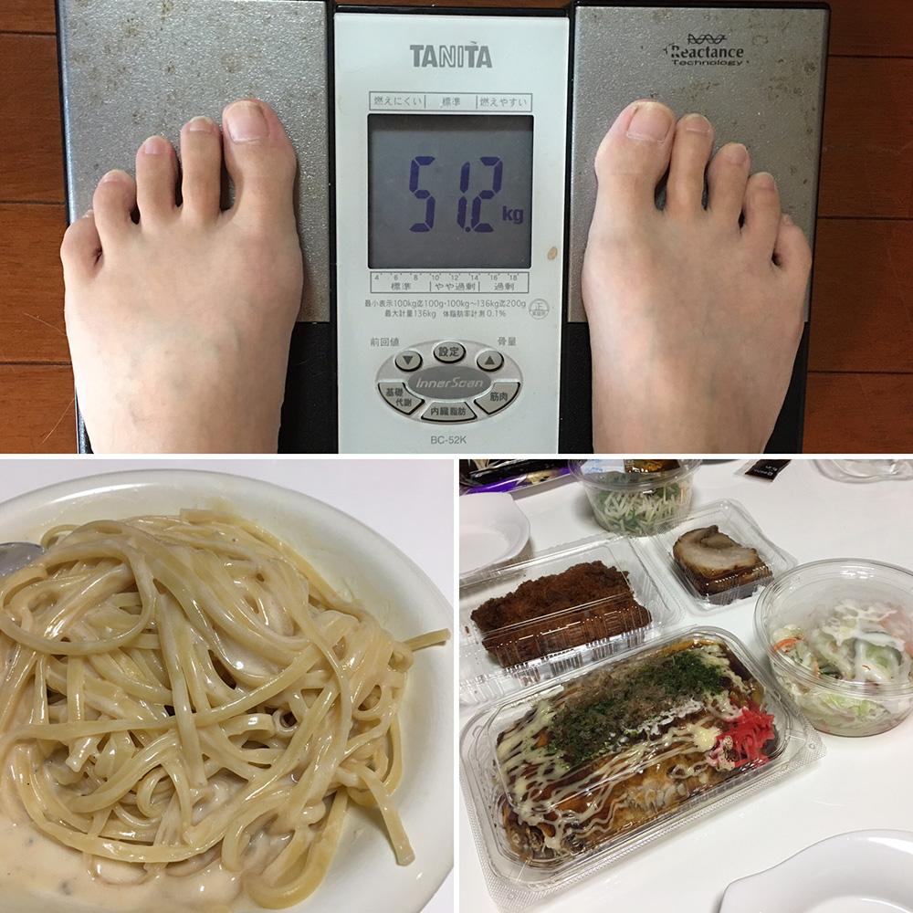 9月18日(月・敬老の日)今朝の体重と昨日のご飯写真