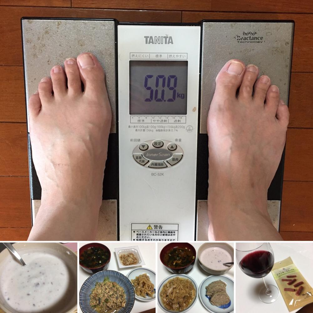 9月2日(土)今朝の体重と昨日のご飯写真