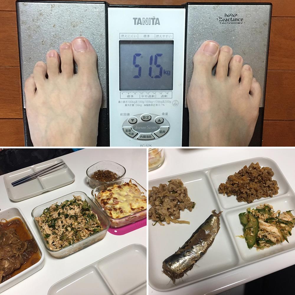 10月20日(金)今朝の体重と昨日のご飯写真