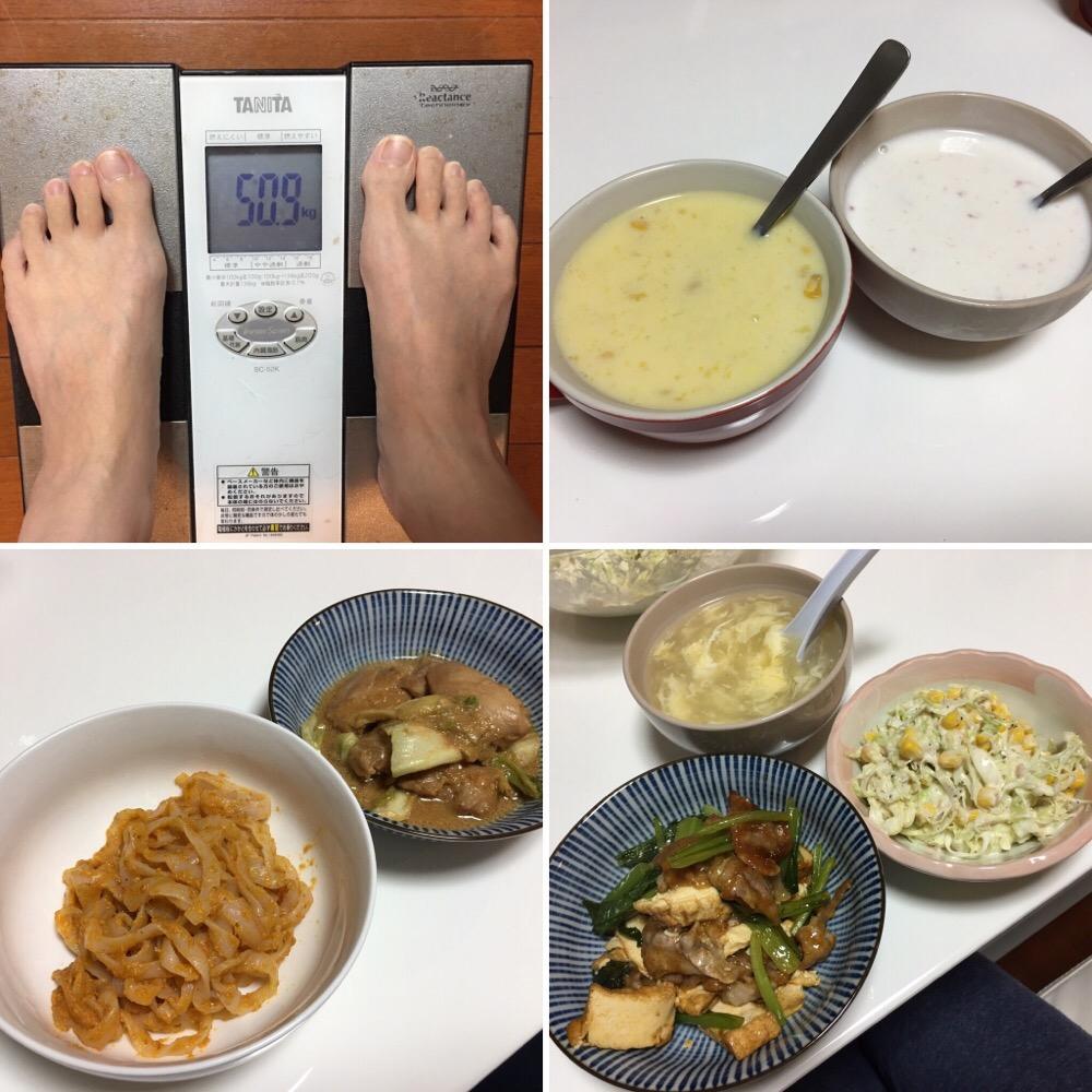 10月14日(土)今朝の体重と昨日のご飯写真