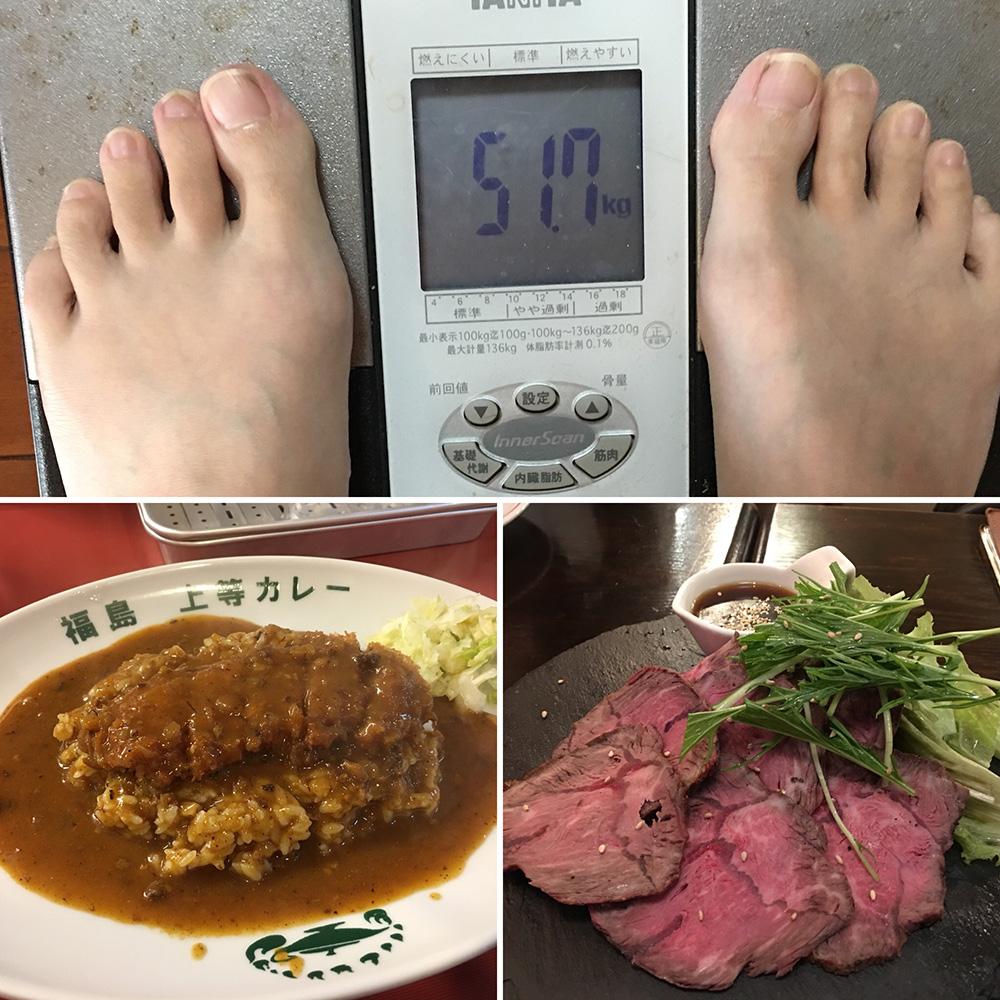 11月12日(日)今朝の体重と昨日のご飯