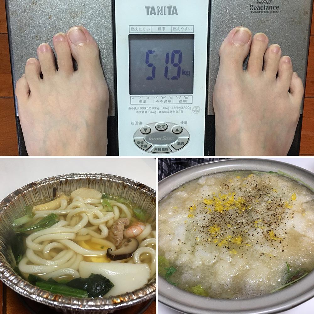 平成29年11月21日(火)今朝の体重と昨日のご飯