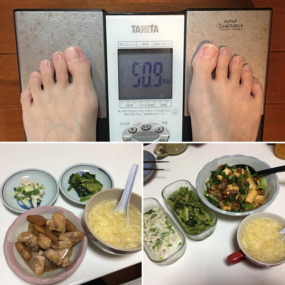 平成29年11月29日(水)今朝の体重と昨日のご飯