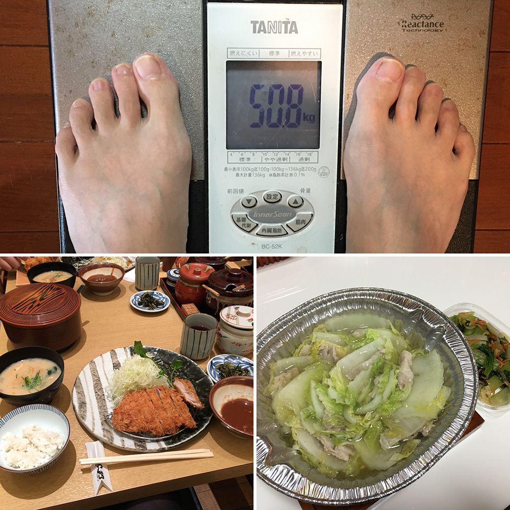 平成29年12月1日(金)今朝の体重と昨日のご飯
