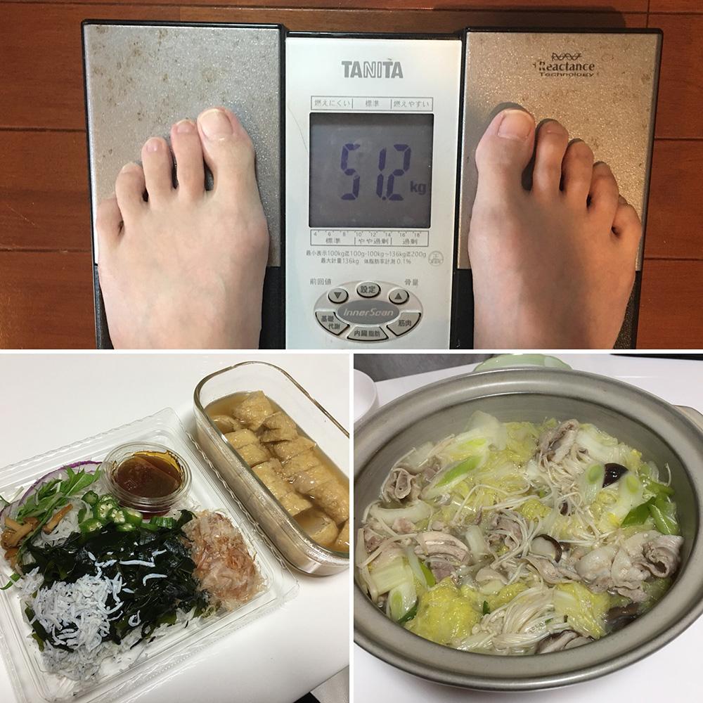 平成29年12月2日(土)今朝の体重と昨日のご飯