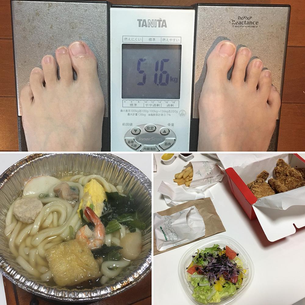 平成29年12月4日(月)今朝の体重と昨日のご飯