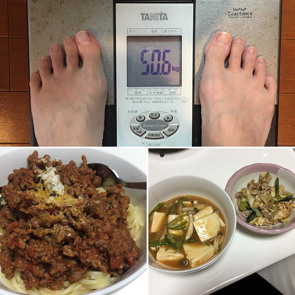 平成29年12月8日(金)今朝の体重と昨日のご飯