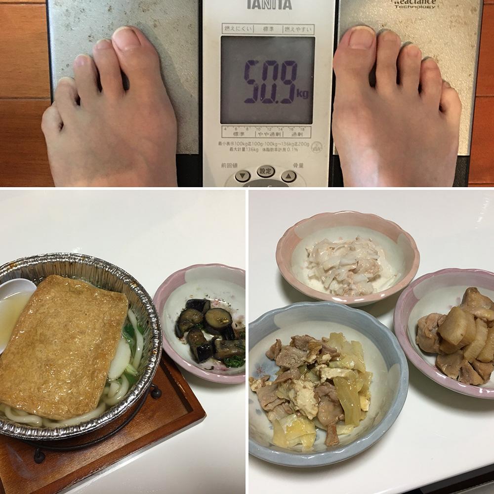 平成29年12月12日(火)今朝の体重と昨日のご飯