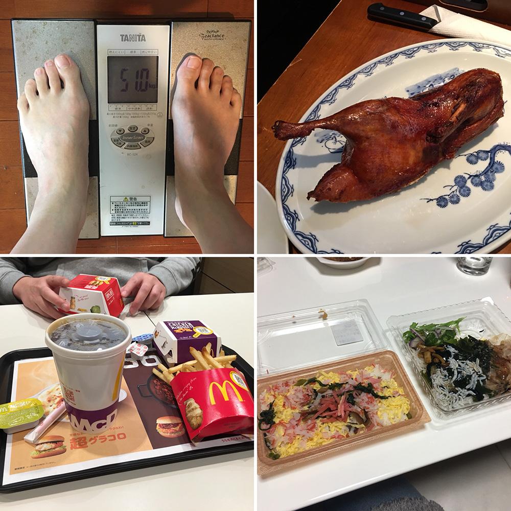 平成29年12月15日(金)今朝の体重と昨日のご飯