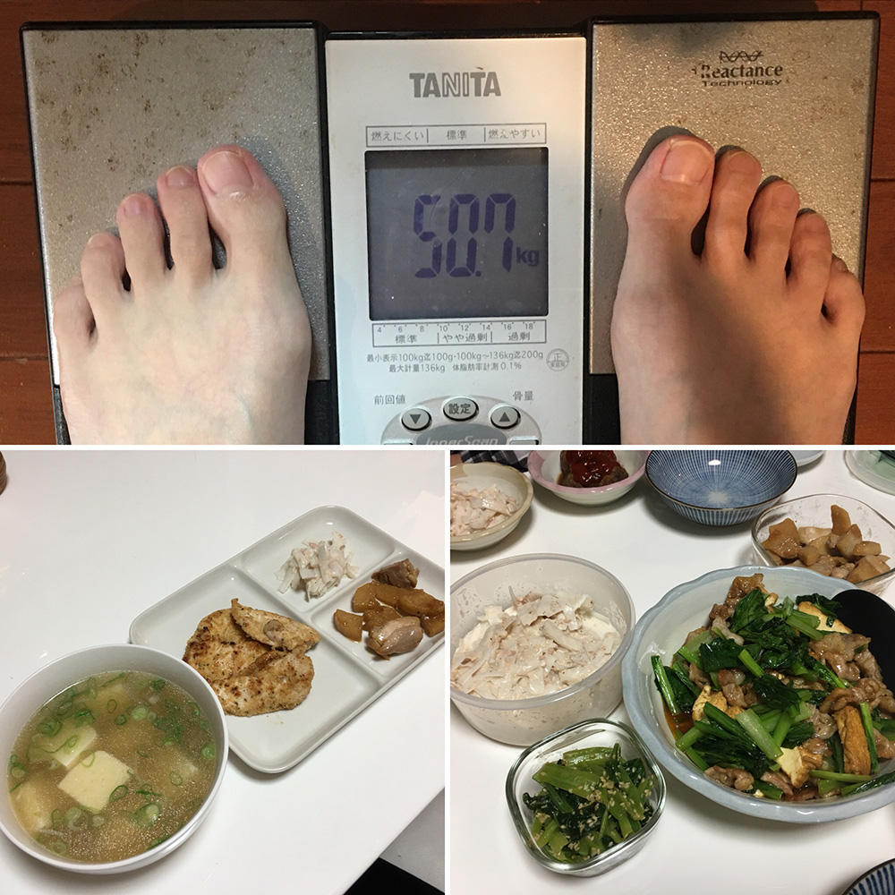 平成29年12月16日(土)今朝の体重と昨日のご飯