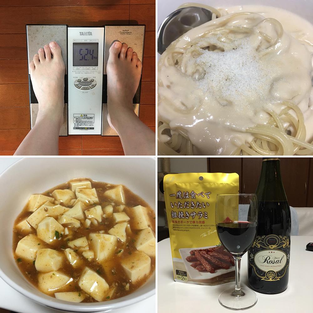 平成29年12月22日(金)今朝の体重と昨日のご飯