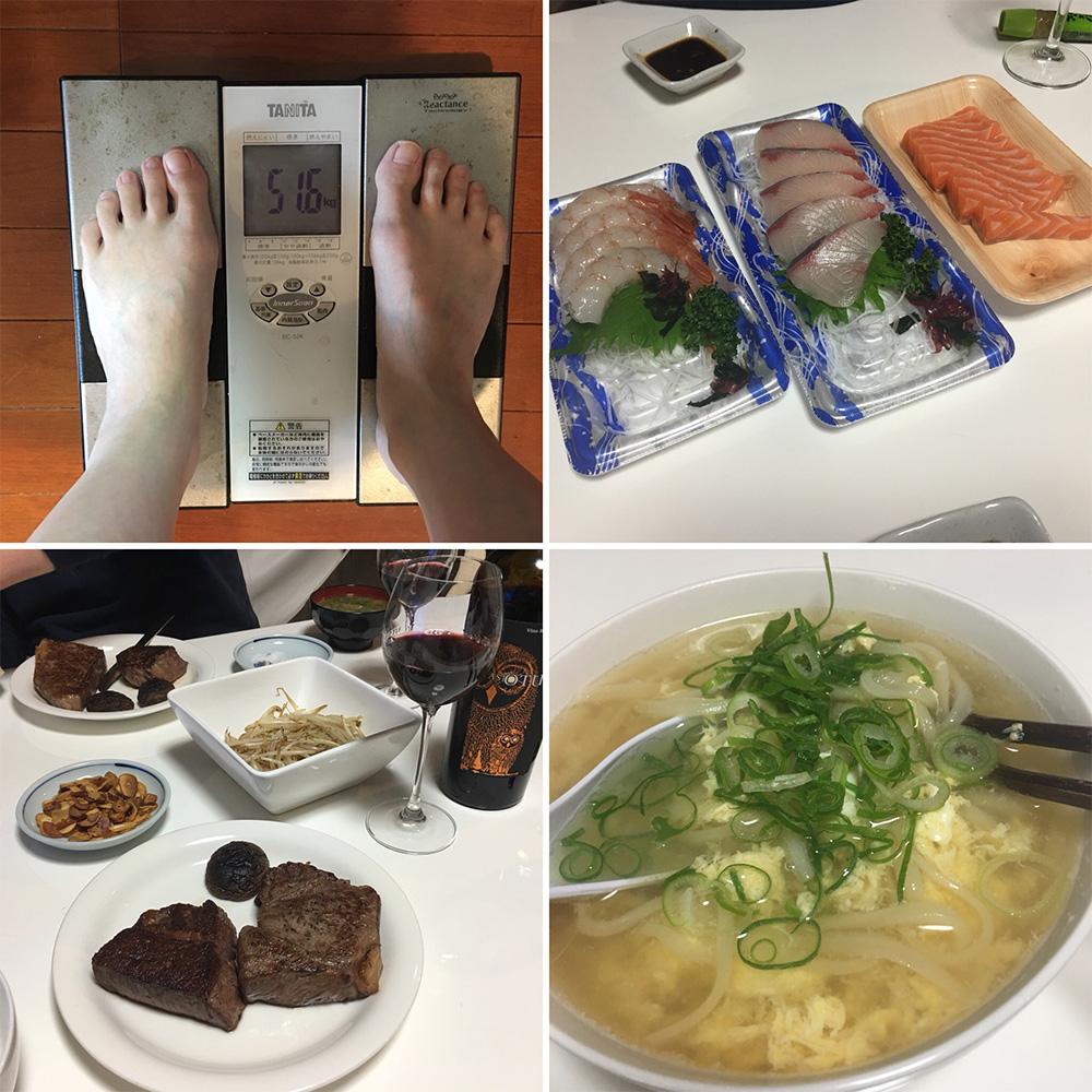 平成29年12月24日(日)今朝の体重と昨日のご飯